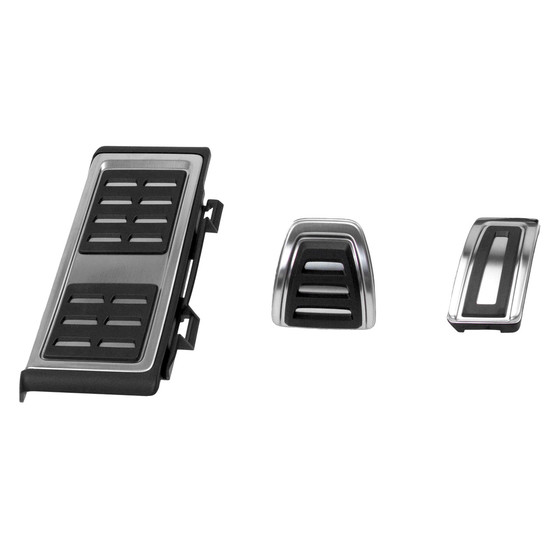 Pedals, footrest stainless steel - Automatic transmission